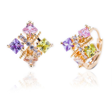 Hengdian Brand Free Shipping Costume Fashion New Design Jewelry 18K Gold Plated Earring for Women Girls