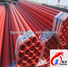 Internal and external plastic coated fire fighting steel pipe