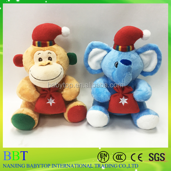 Best gifts for 2017 popular christmas monkey toys with gift bag