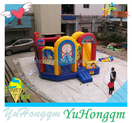 Factory Price Inflatable Bouncer ,Princess Bouncy Castle With Slide For Rental Or Party Use