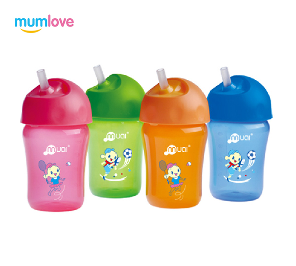 MUMLOVE baby sippy cup with straw