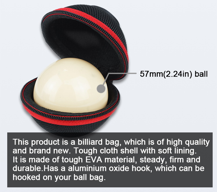 High Quality Billiard Ball Bag Carrying Case, Cue Ball Case China Professional Billiard Factory