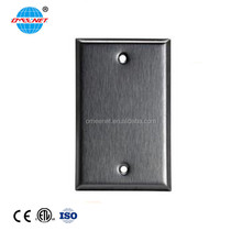 Safety Steel Stainless Blank Wall Switch Plate Cover