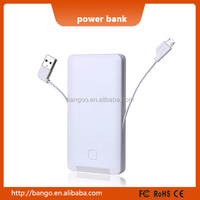 Power Battery Supply 5000mah Power bank Charger for Android and iPhone 4s / 5s / 6 / 6 plus / 6s / 6s plus with Charging Cables