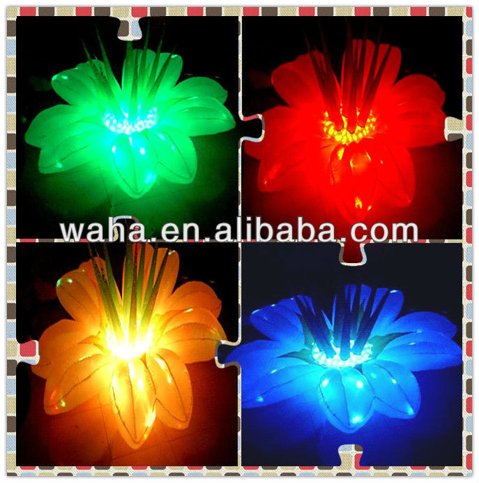 2013 new product LED inflatable artificial flowers for wedding