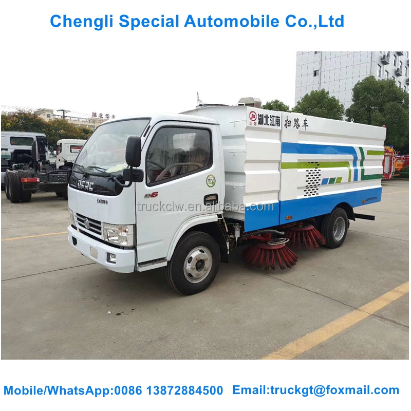 Dongfeng 4*2 road sweeper truck pavement sweepers broomer truck for sale