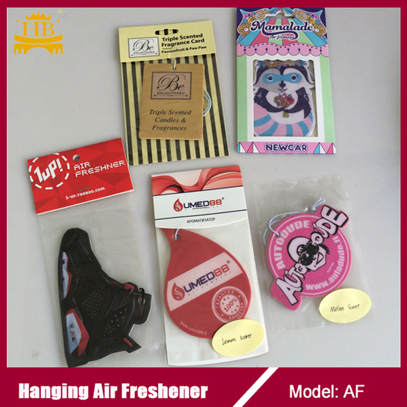 Long-lasting Fragrance Promotion Paper Air Freshener For Car,Hanging Paper Car Air Freshener