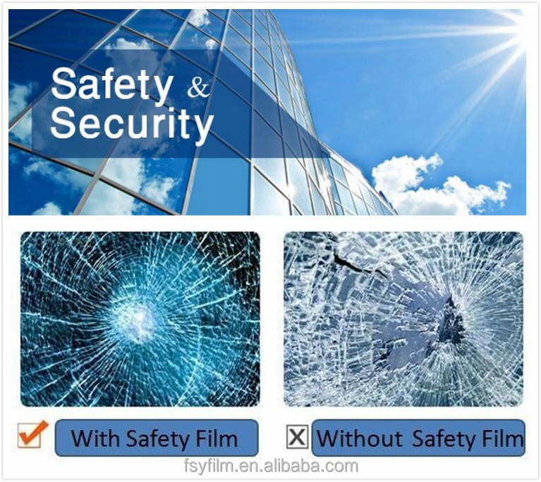 8mil bulletproof glass window film safety tint film for building windows