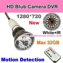 720P HD Bulb P2P WIFI Camera, Motion detection lamp hidden camera