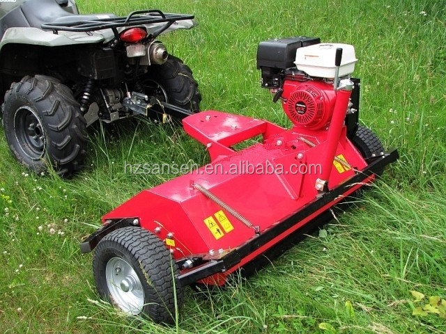 ATV Finishing Mower with self engine; Tow behind lawn Mower