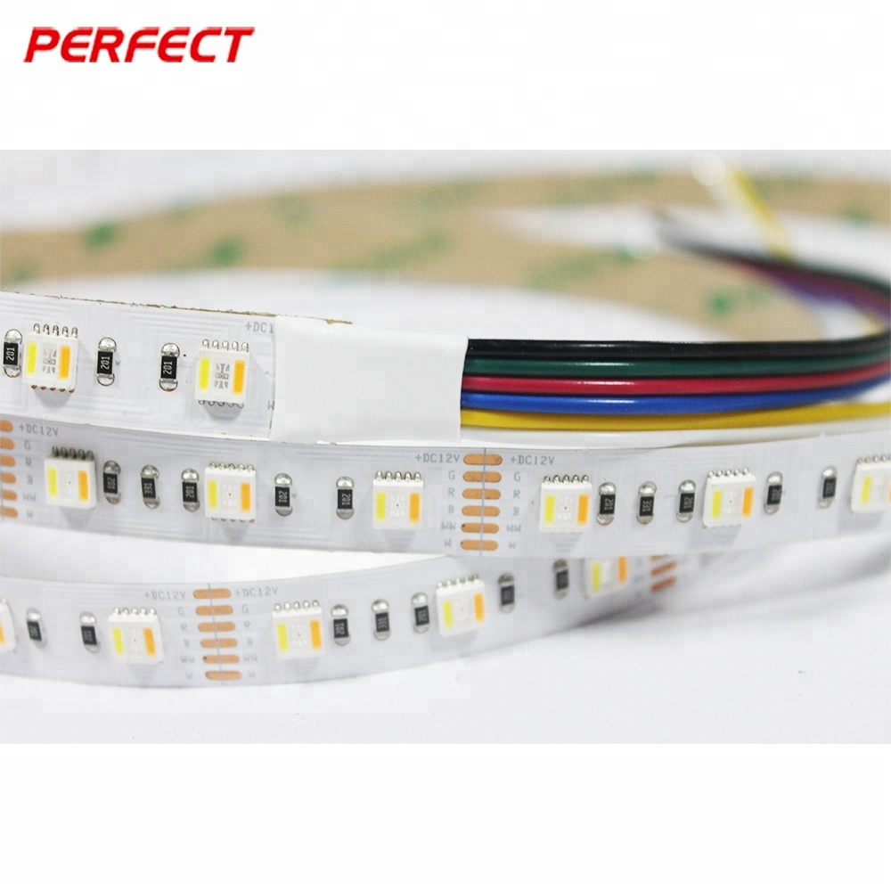 customized product wifi control 24V 84 led <strong>rgb</strong>+cct 5in1 led strip