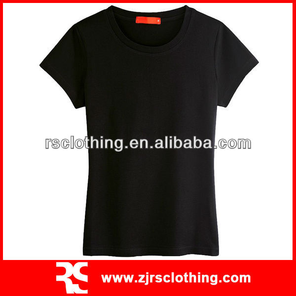 Ladies Cotton and Lycra T-shirt Promotional T-shirt