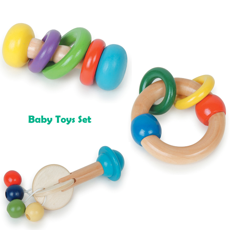 Safe Baby Toys : Child friendly safe wooden infant baby toys rattle buy