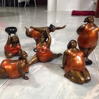 popular 2016 hot sell home decor metal craft samll nude fat women