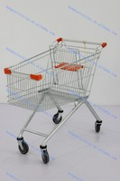grocery pull carts metal vegetable and fruit trolley with baby seat for shopping