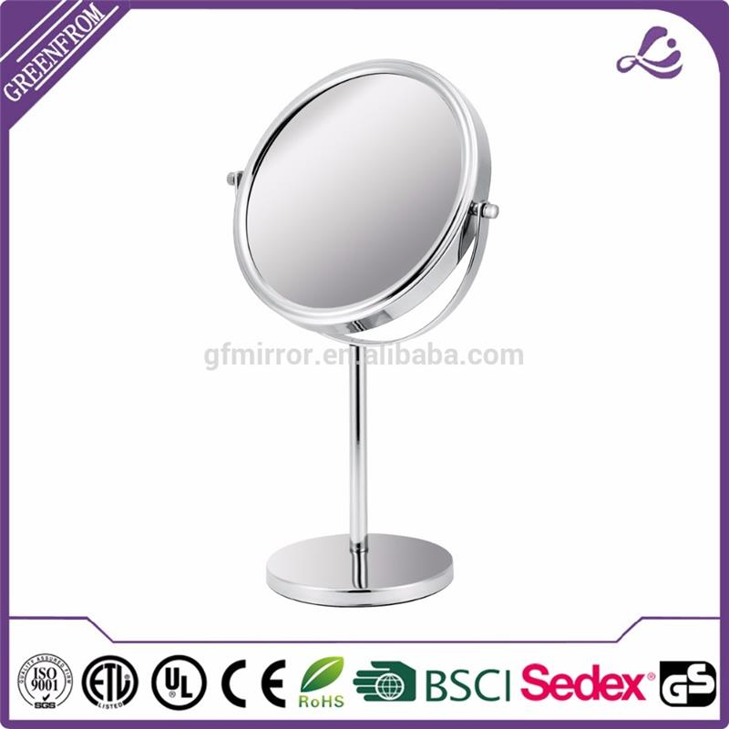 Multifunctional table styling chrome magnifying makeup mirror