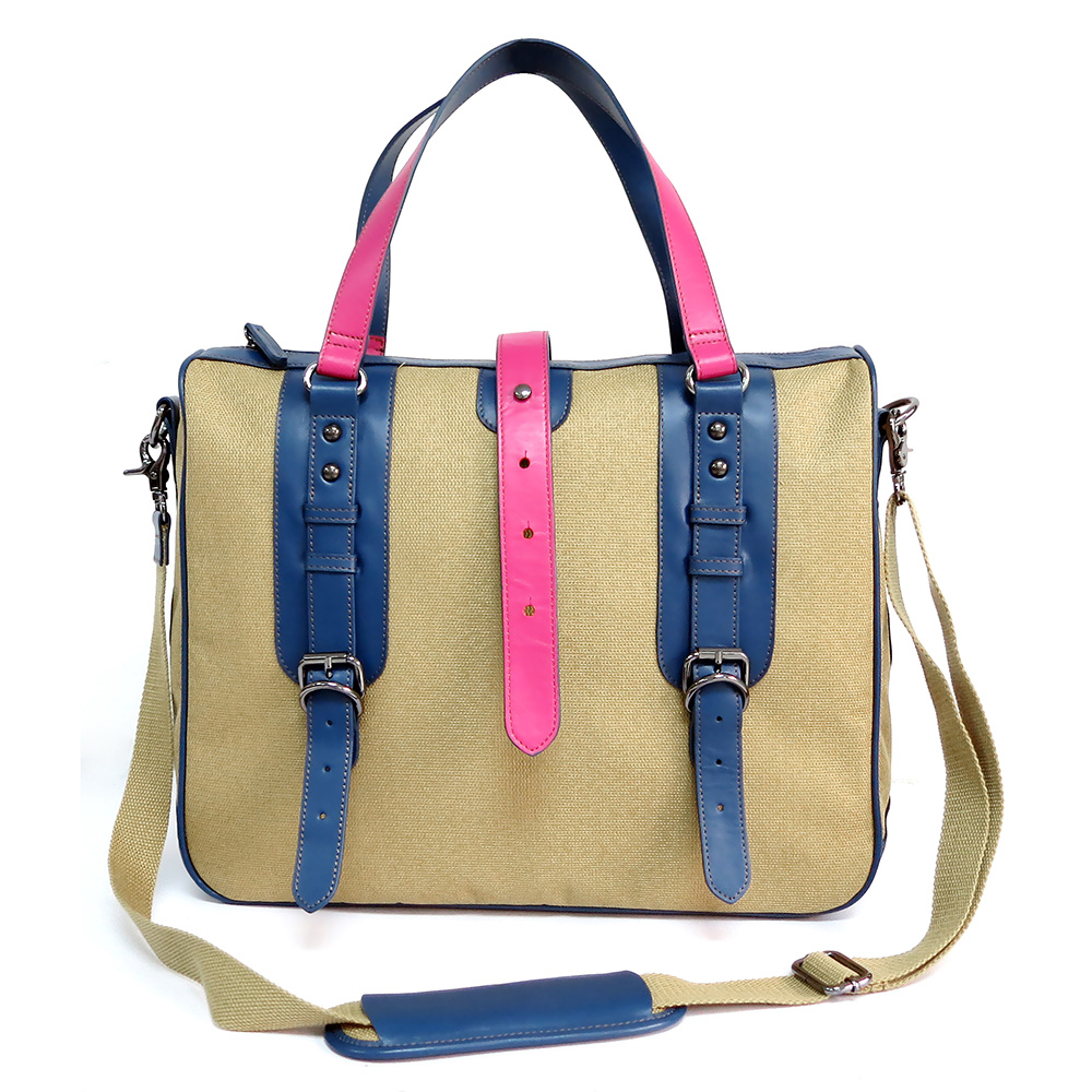 Color Blocking Fashion Women's Briefcase Document Bag