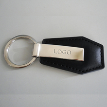 Custom leather key chain, genuine leather car logo keyring
