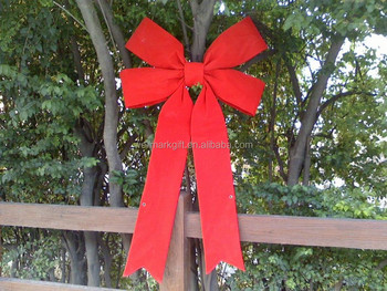 40 Inch Extra Large 3D Structural Red Velvet Christmas Gift Ribbon Bow