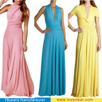 Women's transfomer jersey wholesale multi way jersey infinity swing convertible long maxi Dress
