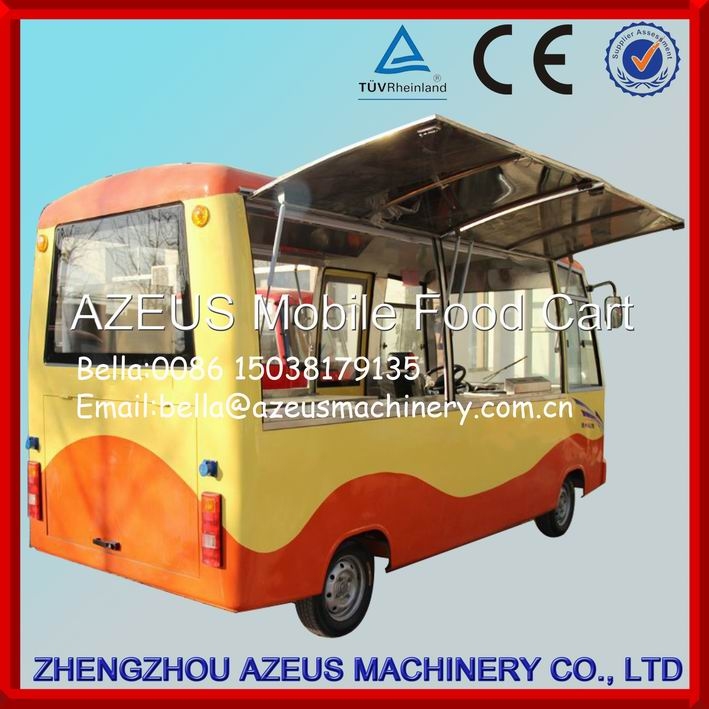 Modern bus type mobile food cooking van