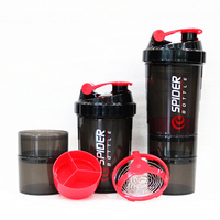 Protein powder shaker bottle fitness special whey protein shaker, 600ml plastic shaker bottle ,milk shaker