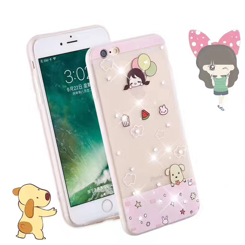 Promotional mobile phone diamond case for iphone,for iphone 6 plus diamond case