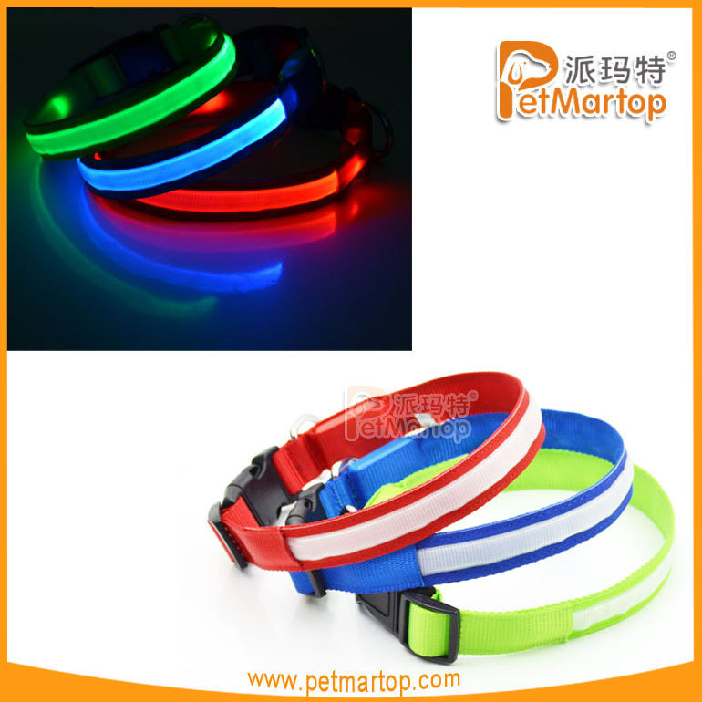 2016 China wholesale customized led dog collar pet accesories dog led collar