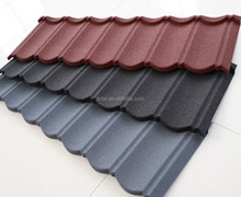 Popular Stone coated metal steel roof tile without color fading
