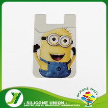 Customized Color silicone cell phone card wallet