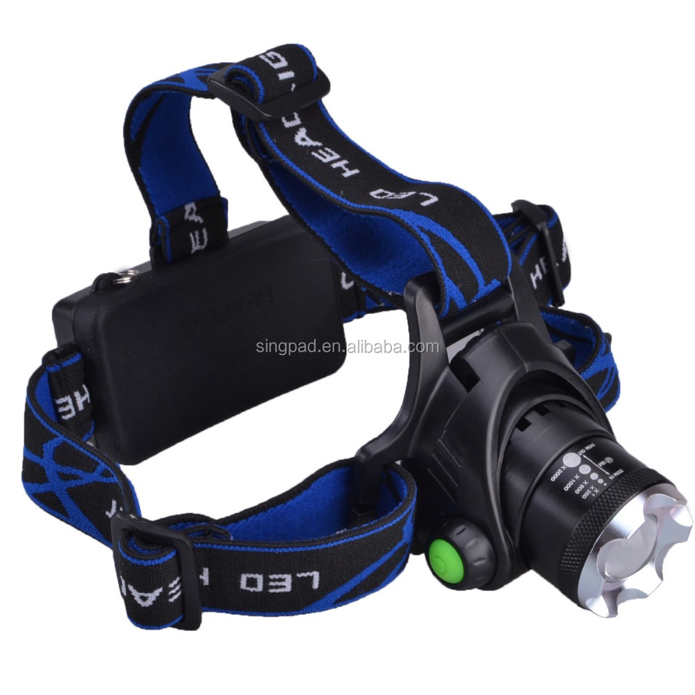 hot sale wholesales xm-l t6 1000lm focus zooming <strong>led</strong> rechargeable headlamp