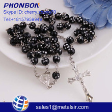 jewelry online shop china Virgin Mary catholic prayer rosary plastic rosary chain rosary necklace