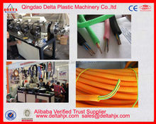 Electric cable inside corrugated hose producing machine