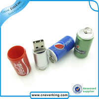 Bulk cheap coke bottle 1GB 2GB 4GB 8GB usb flash drive with high speed USB 2.0