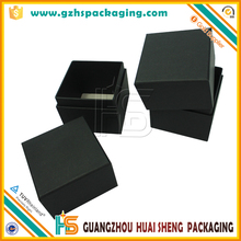 Luxury Custom Black Card Made Candle Packaging Paper 8x8 Gift Boxes