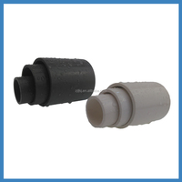 PVC Plastic Material Flexible Pipe Fitting Grey Coupling