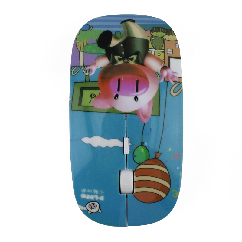 Cartoon Lovely Pig Logo Wireless Mouse with buy computer mouse glove online games