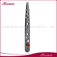 promotional eyebrow tweezers with holes and rhinstone decoration