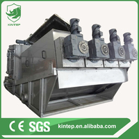 Screw sludge dewatering machine for algae sewage treatment