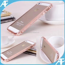Luxury Deluxe Bling Diamonds Metal Bumper Cases For iPhone5 5S 4 4S