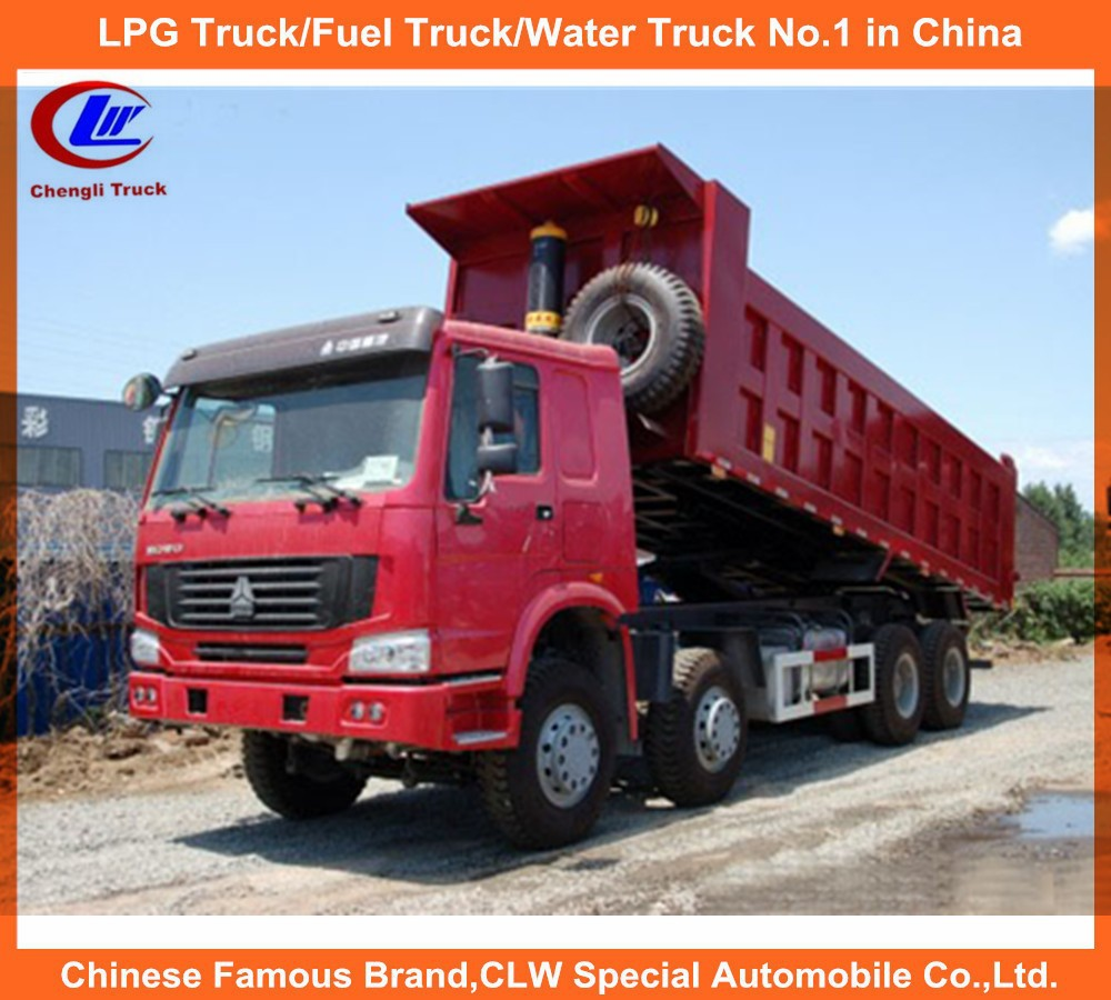 China howo dump truck used for dubai 336hp 8*4 dumper truck 12 wheel howo dump trucks for sale