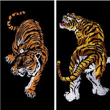 Embroidered clothing big tiger patches for clothes with it clothing bike patch patchwork cotton fabric new year gifts P261