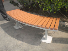 Factory direct wholesale hotel outdoor furniture stainless steel park bench