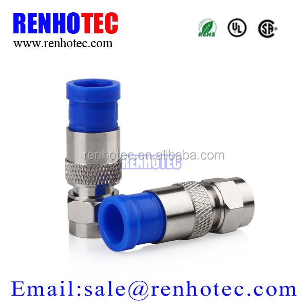 compression plug connector rg6 coaxial cable connector