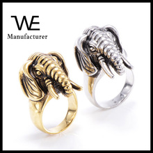 Stainless Steel Unisex Elephant Animal Rings Jewelry