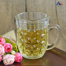 Wholesale Diamond Cut Restaurant Glassware Water Glass Mug Cup 5oz