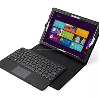 Ultra leather Black Keyboard, Premium Carrying Case For microsoft surface pro 4