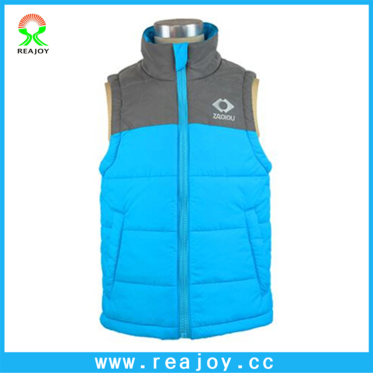 Cheap high visibility reflective children kids padded waistcoat