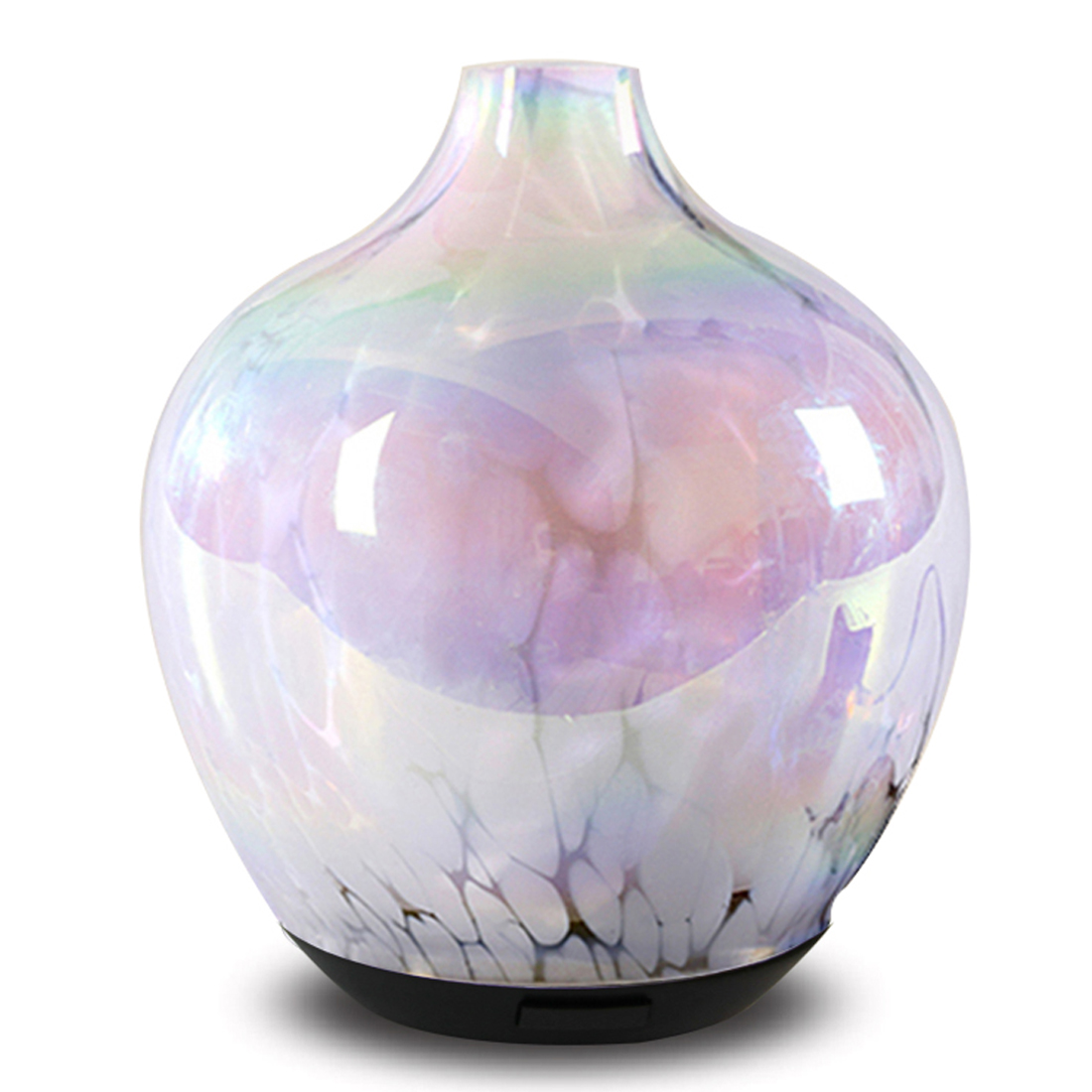 2018 Popular Home Decorative Art Glass Ultrasonic Electric Essential Oil Aroma Diffuser With Warm Light Custom Air Freshener
