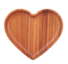 Eco Friendly Heart Shape Wooden Food
